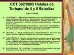 cct 362 2003 hoteles de turismo de 4 y 5 estrellas119