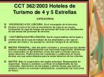 cct 362 2003 hoteles de turismo de 4 y 5 estrellas120