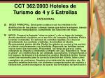 cct 362 2003 hoteles de turismo de 4 y 5 estrellas121