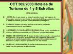 cct 362 2003 hoteles de turismo de 4 y 5 estrellas122
