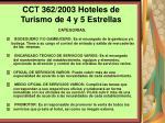 cct 362 2003 hoteles de turismo de 4 y 5 estrellas125