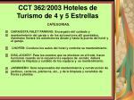 cct 362 2003 hoteles de turismo de 4 y 5 estrellas126