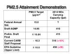 pm2 5 attainment demonstration