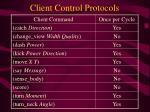 client control protocols