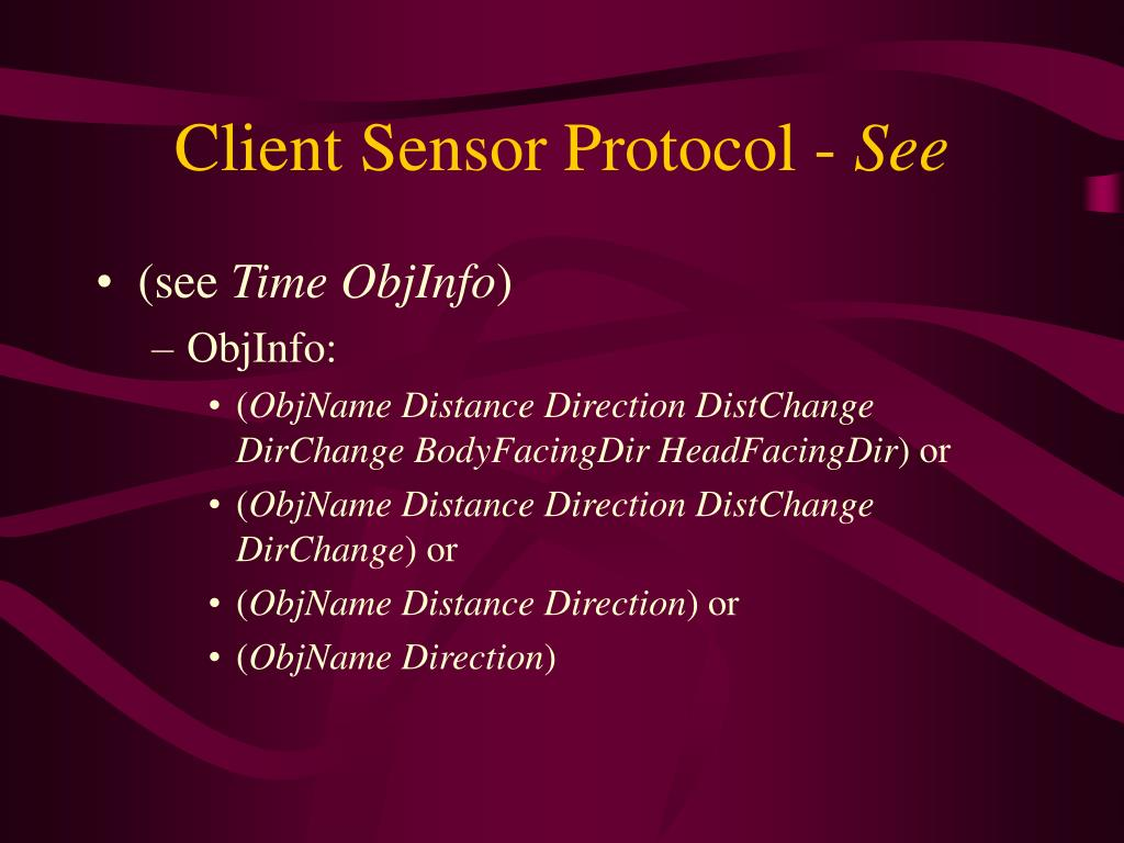Client Sensor Protocol -