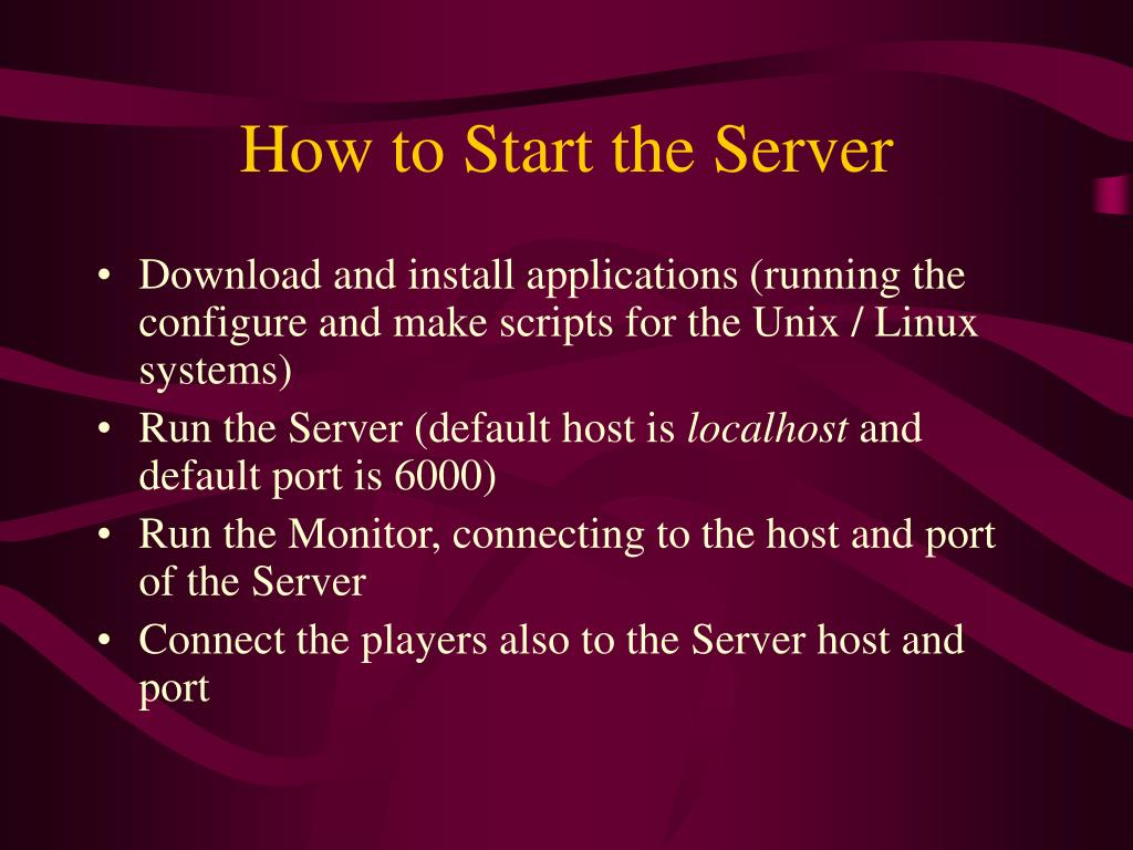 How to Start the Server