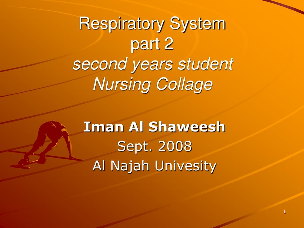 respiratory system part 2 second years student nursing collage l.