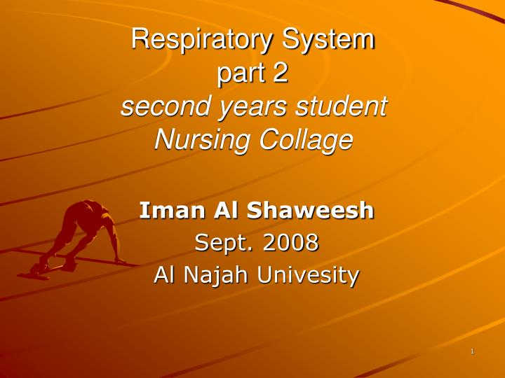 respiratory system part 2 second years student nursing collage n.