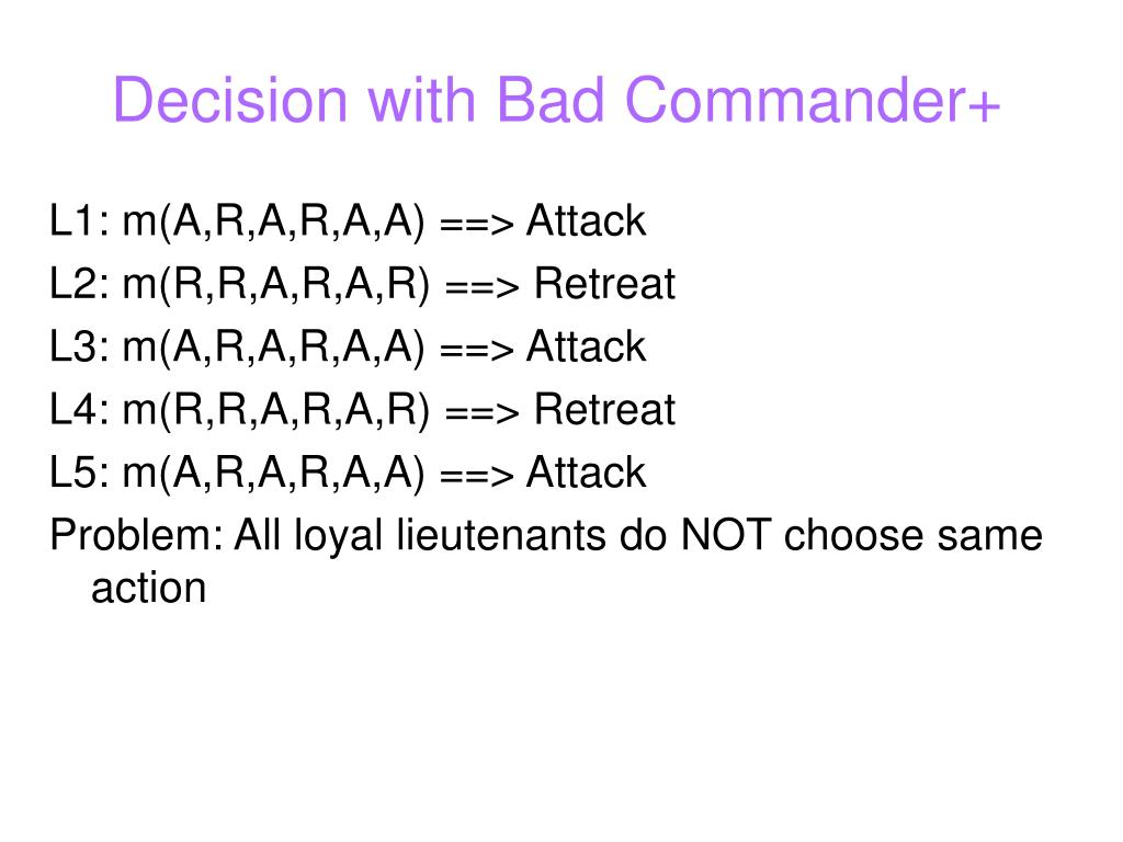 Decision with Bad Commander+