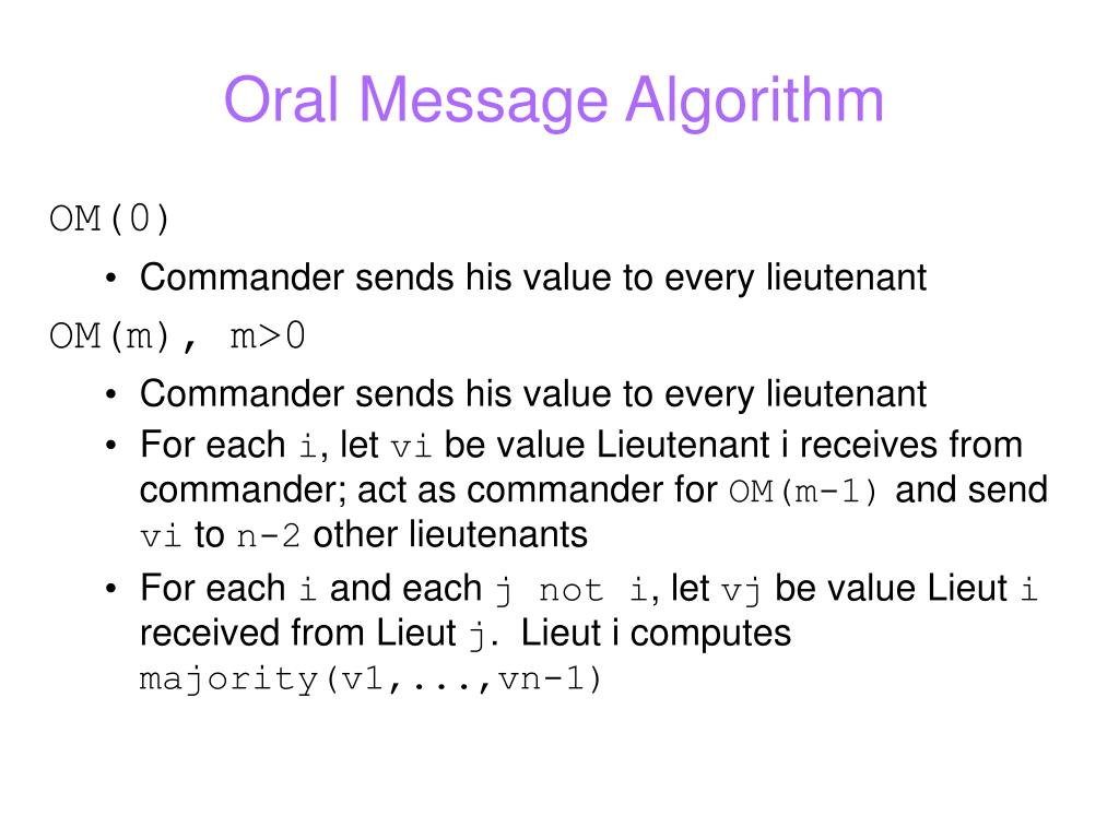 Oral Message Algorithm