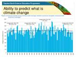 ability to predict what is climate change