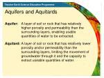 aquifers and aquitards