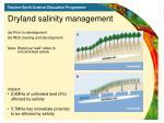 dryland salinity management
