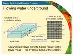 flowing water underground