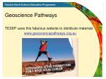 geoscience pathways