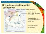 groundwater surface water connectivity
