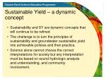 sustainable yield a dynamic concept