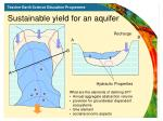 sustainable yield for an aquifer