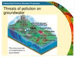 threats of pollution on groundwater