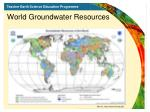 world groundwater resources