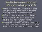 need to know more about sex differences in biology of chd