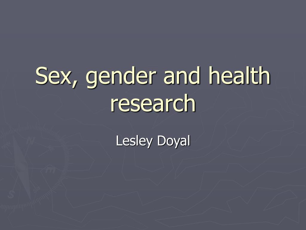 sex gender and health research l.
