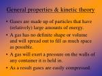 general properties kinetic theory