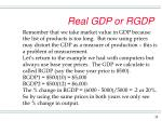 real gdp or rgdp