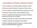 assumptions of kinetic molecular theory
