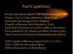 fuel capabilities