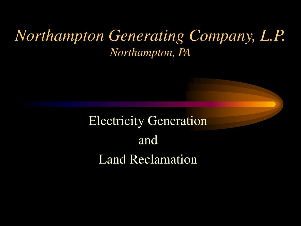 northampton generating company l p northampton pa l.