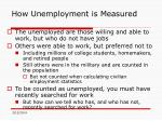 how unemployment is measured