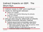 indirect impacts on gdp the short run