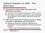 indirect impacts on gdp the short run46