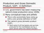 production and gross domestic product gdp a definition