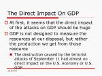 the direct impact on gdp