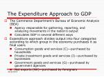 the expenditure approach to gdp