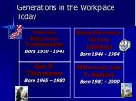 generations in the workplace today