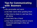 tips for communicating with boomers