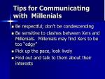 tips for communicating with millenials