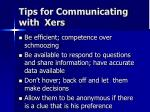 tips for communicating with xers