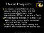 1 marine ecosystems