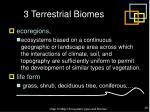 3 terrestrial biomes36