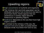 upwelling regions