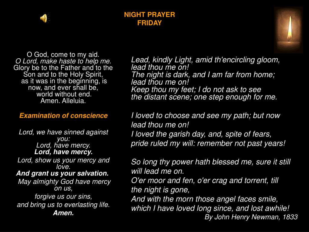 night prayer friday l.