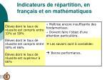indicateurs de r partition en fran ais et en math matiques19