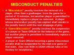 misconduct penalties