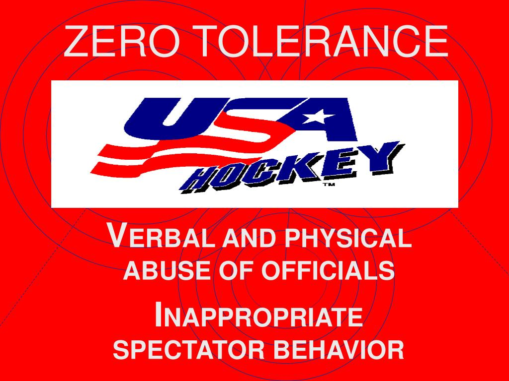 v erbal and physical abuse of officials i nappropriate spectator behavior l.