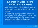 emergency bleep testing hhgh sach wgh