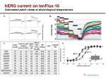 herg current on ionflux 16 automated patch clamp at physiological temperatures